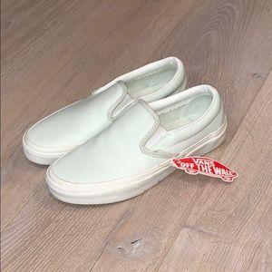 Mint Green Vans Slip-ons